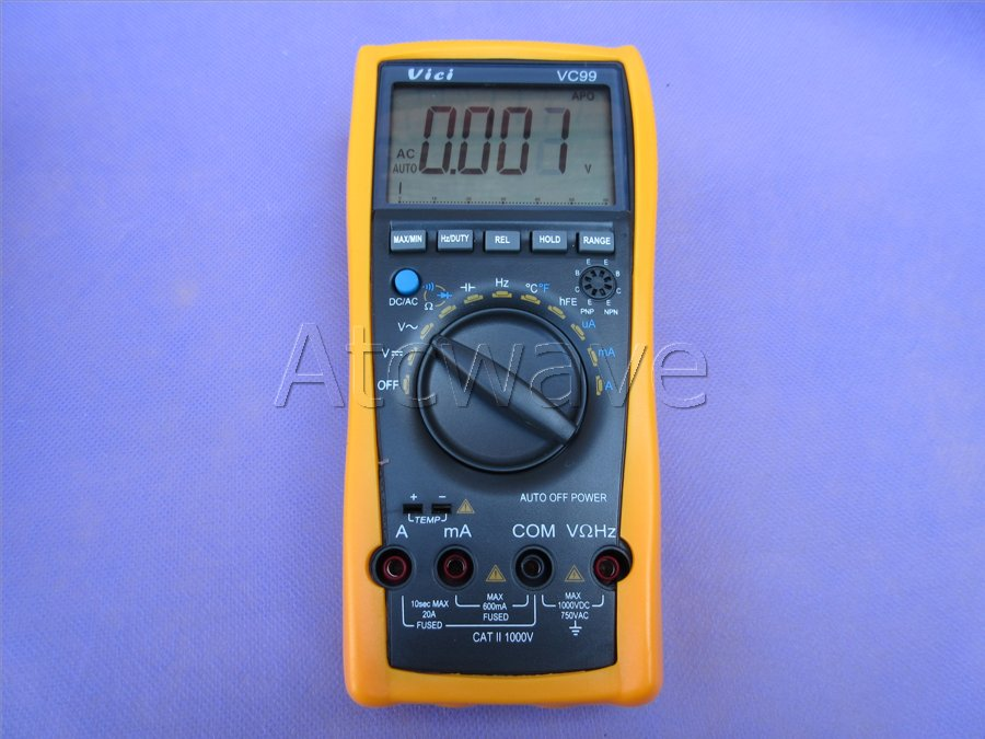 Digital Voltmeter Symbols : Vc auto range digital lcd voltmeter multimeter