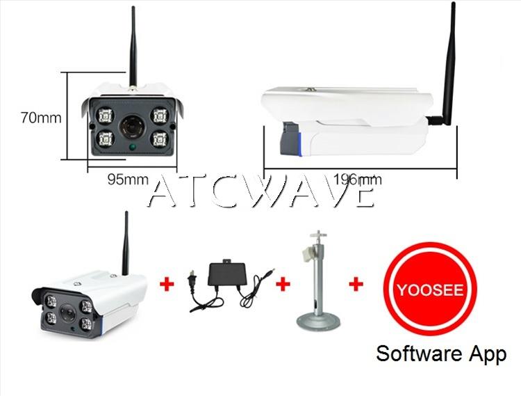 waterproof wireless wifi hd 720p ip p2p camera home